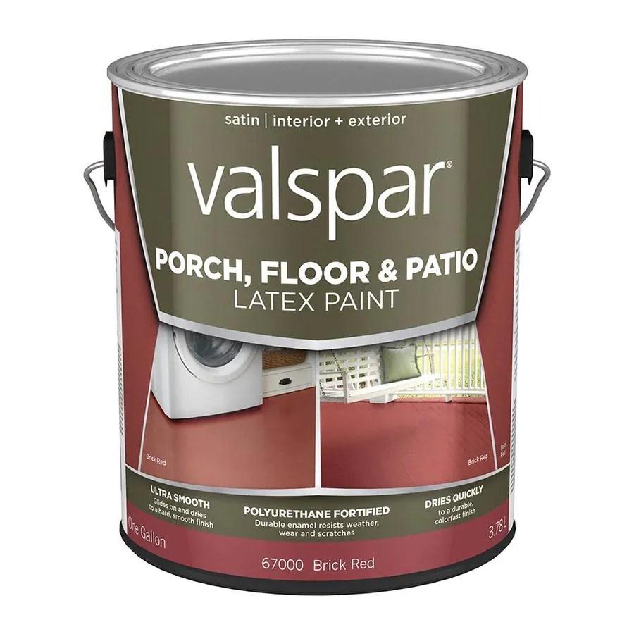 valspar tile red satin interior or exterior porch and floor paint 1 gallon