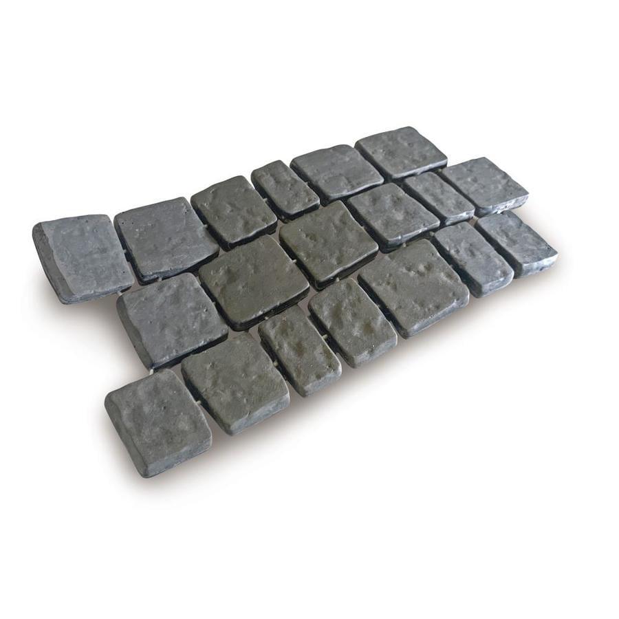 riccobene cobble mat cobble systems 23 5 in l x 11 75 in w x 1 in h interlocking patio stone