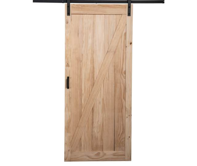 Reliabilt Pine Unfinished Wood Barn Door Kit Hardware Included Common  In X