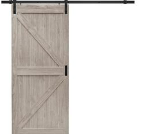 Reliabilt Brown Prefinished Mdf Barn Door Kit Hardware Included Common  In X