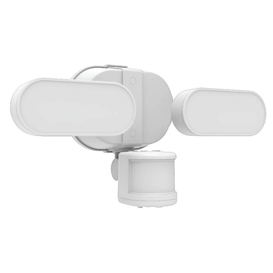 ge led linkable motion soft white 250w replacement integrated led outdoor security fixture 1 pack