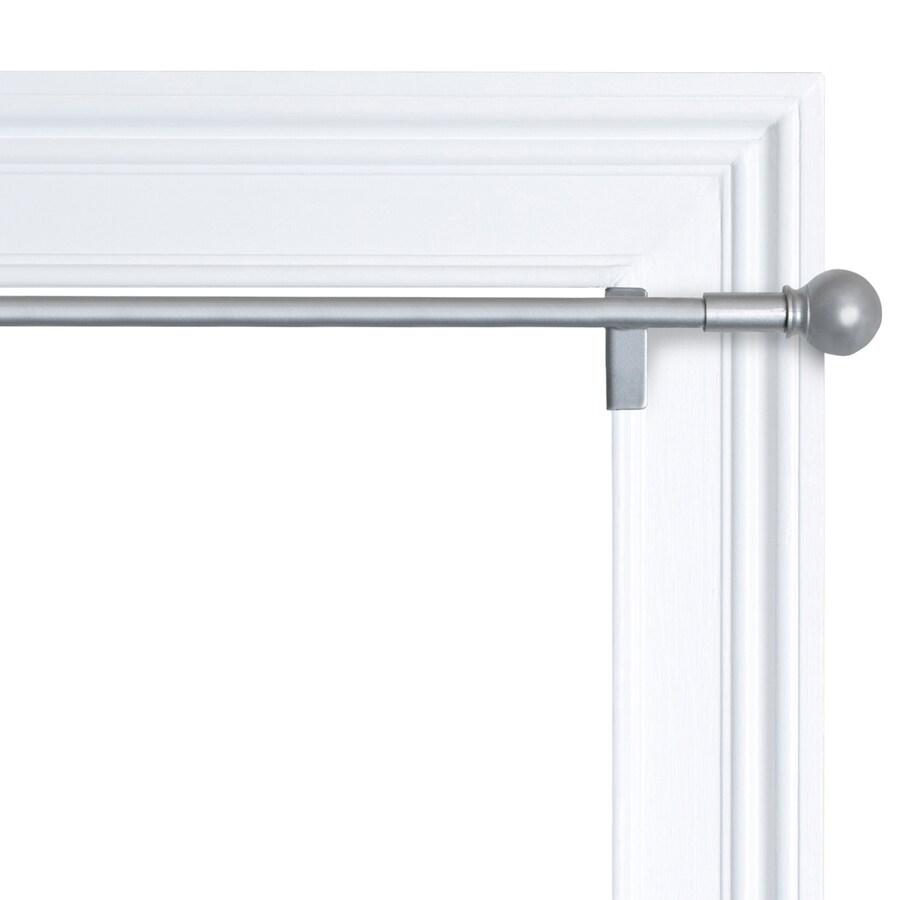 smart twist shout 48 in to 84 in nickel steel tension curtain rod