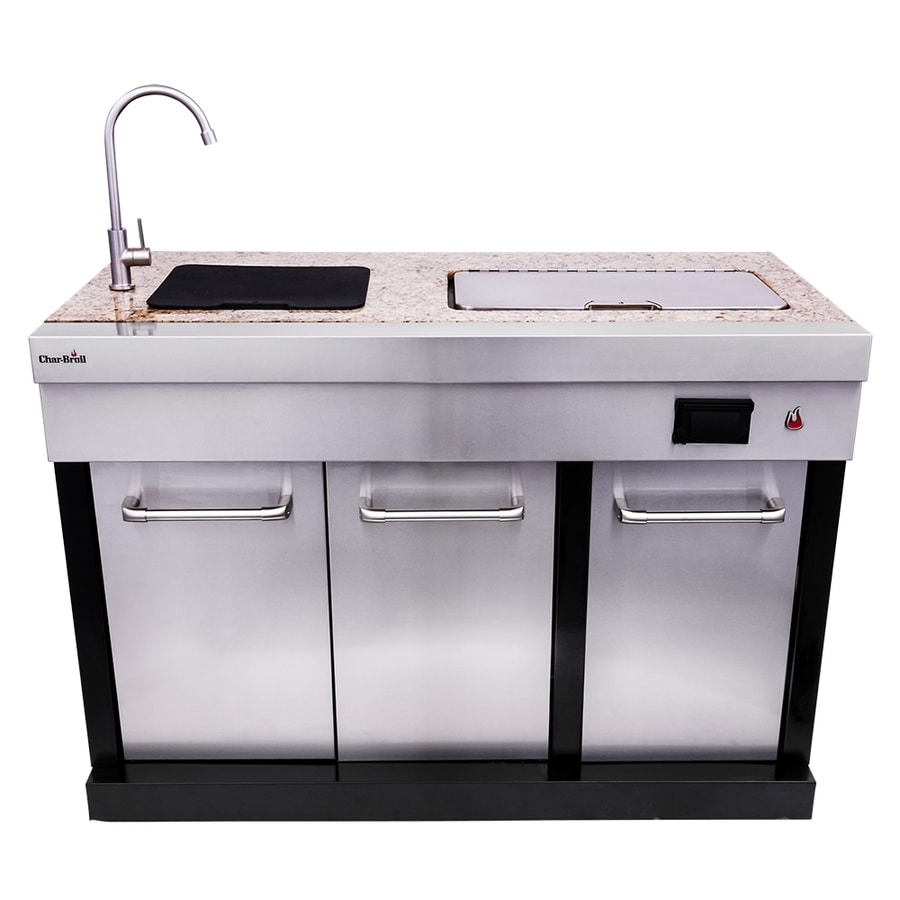 char broil medallion 50inches w x 25inches d x 48 6 in h outdoor kitchen sink
