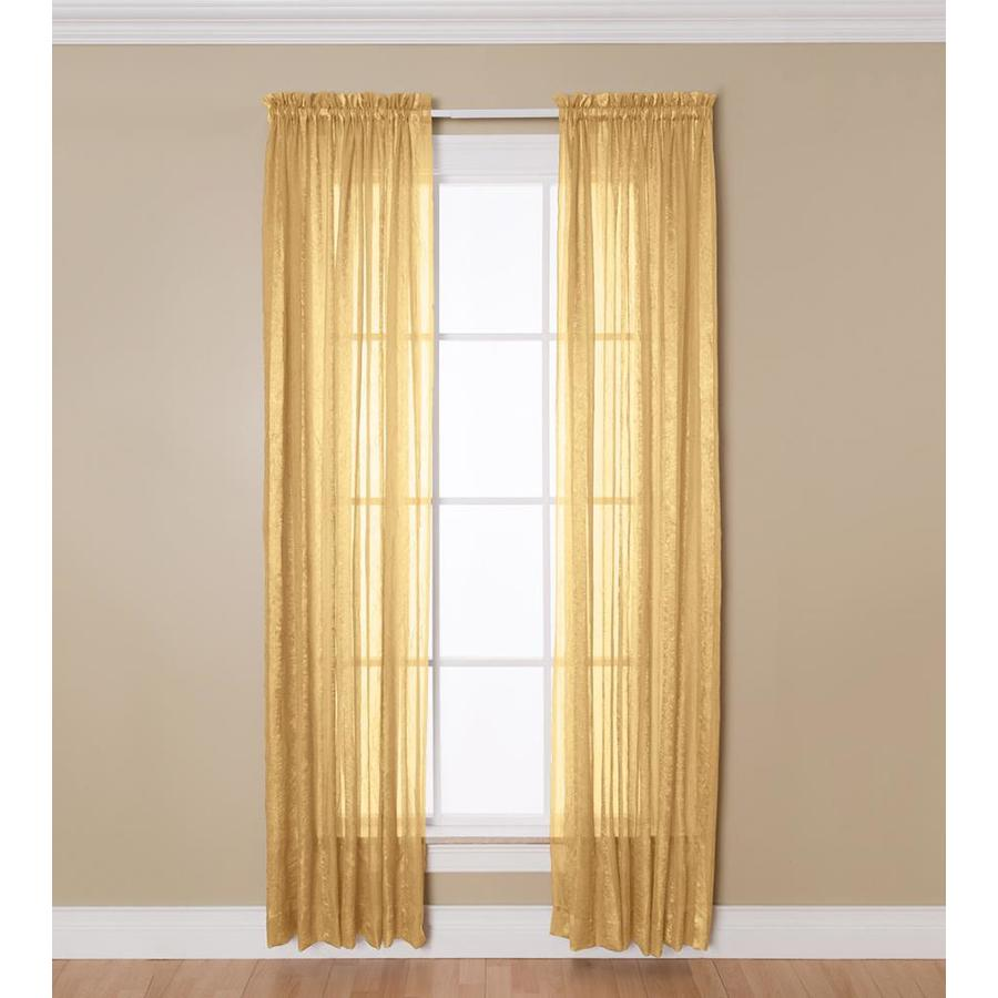 allen roth 63 in gold polyester sheer
