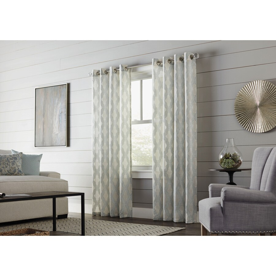Al Roth Breesport  In Mineral Polyester Grommet Sheer Single Curtain Panel