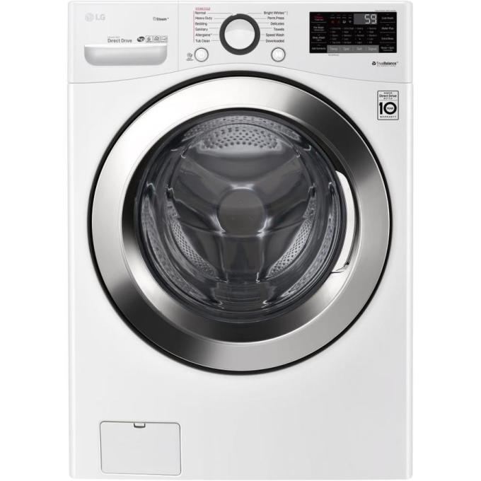 LG 4.5-cu ft High Efficiency Stackable Front-Load Washer (White) ENERGY STAR