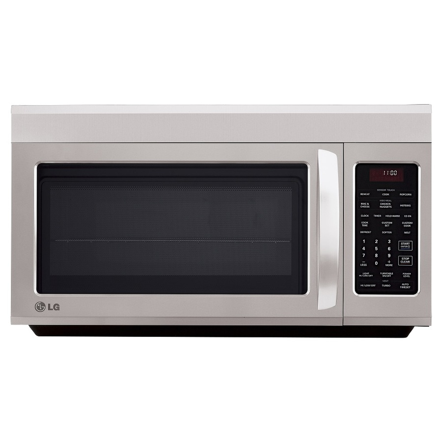 lg 1 8 cu ft over the range microwave with sensor cooking controls stainless steel common 30 in actual 29 875 in
