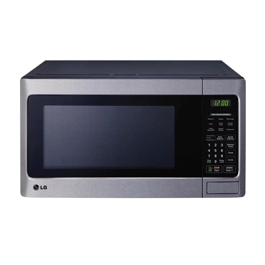 https www lowes com pd lg 1 1 cu ft 1000 watt countertop microwave stainless steel 1000113189