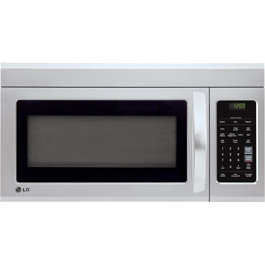 https www lowes com pd lg easyclean 1 8 cu ft over the range microwave with sensor cooking stainless steel 1000750854
