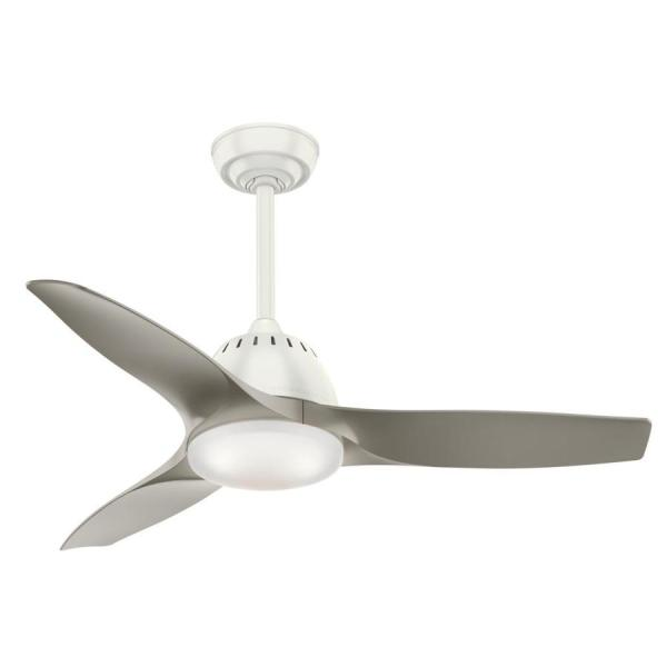 Shop Casablanca Wisp LED 44 in Fresh White LED Indoor Ceiling Fan     Casablanca Wisp LED 44 in Fresh White LED Indoor Ceiling Fan with Light Kit  and