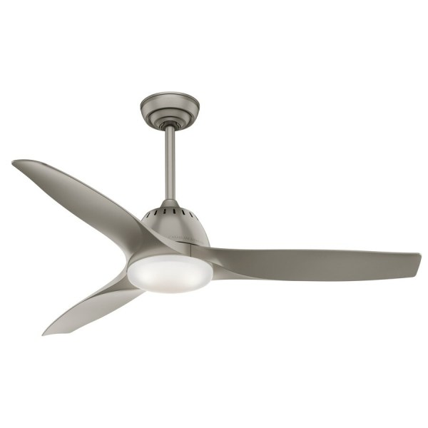 Shop Casablanca Wisp LED 52 in Painted Pewter LED Indoor Ceiling Fan     Casablanca Wisp LED 52 in Painted Pewter LED Indoor Ceiling Fan with Light  Kit and