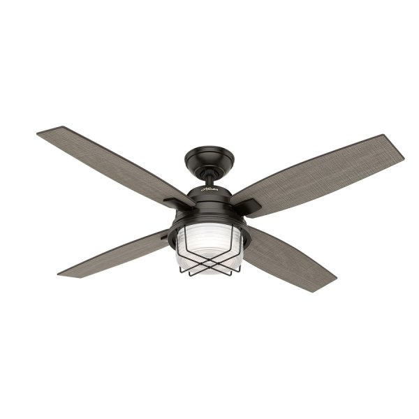Shop Hunter Ivy Creek 52 in Noble Bronze Indoor Outdoor Ceiling Fan     Hunter Ivy Creek 52 in Noble Bronze Indoor Outdoor Ceiling Fan with Light  Kit