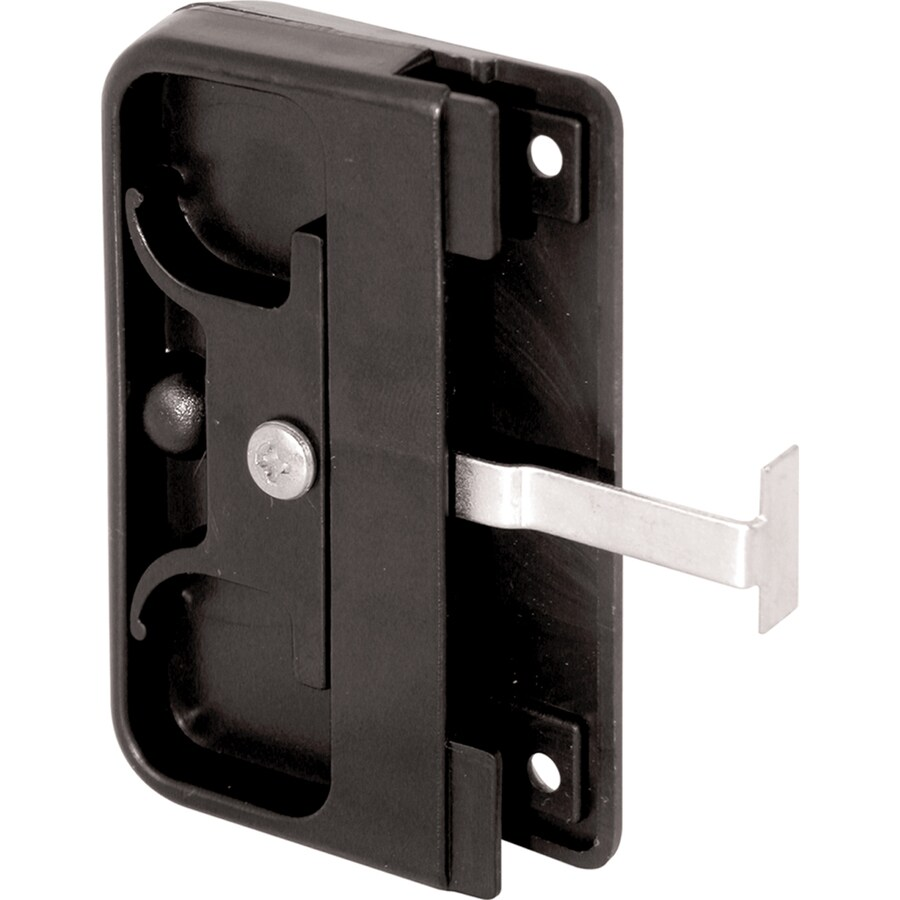 prime line black plastic mortise style screen door latch and pull lowes com