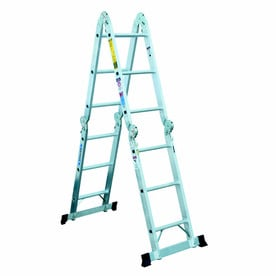 Werner 12-ft Aluminum 300-lb Type IA Multi-Position Ladder