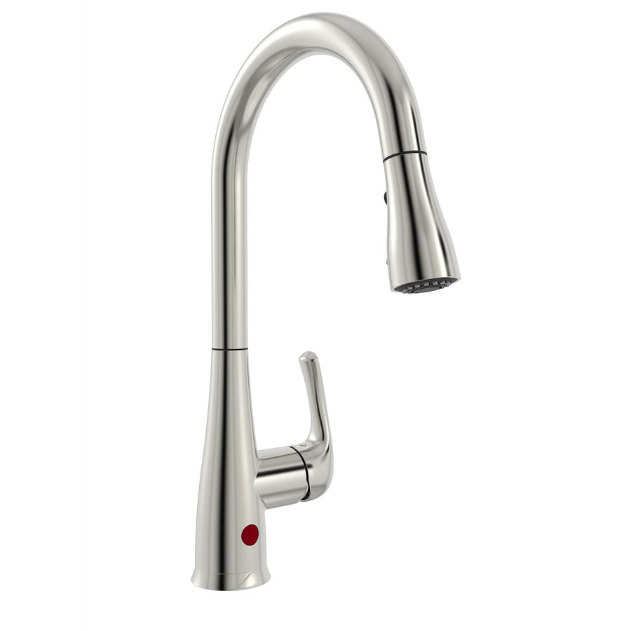 keeney nexo brushed nickel 1 handle deck mount pull down touchless kitchen faucet deck plate included