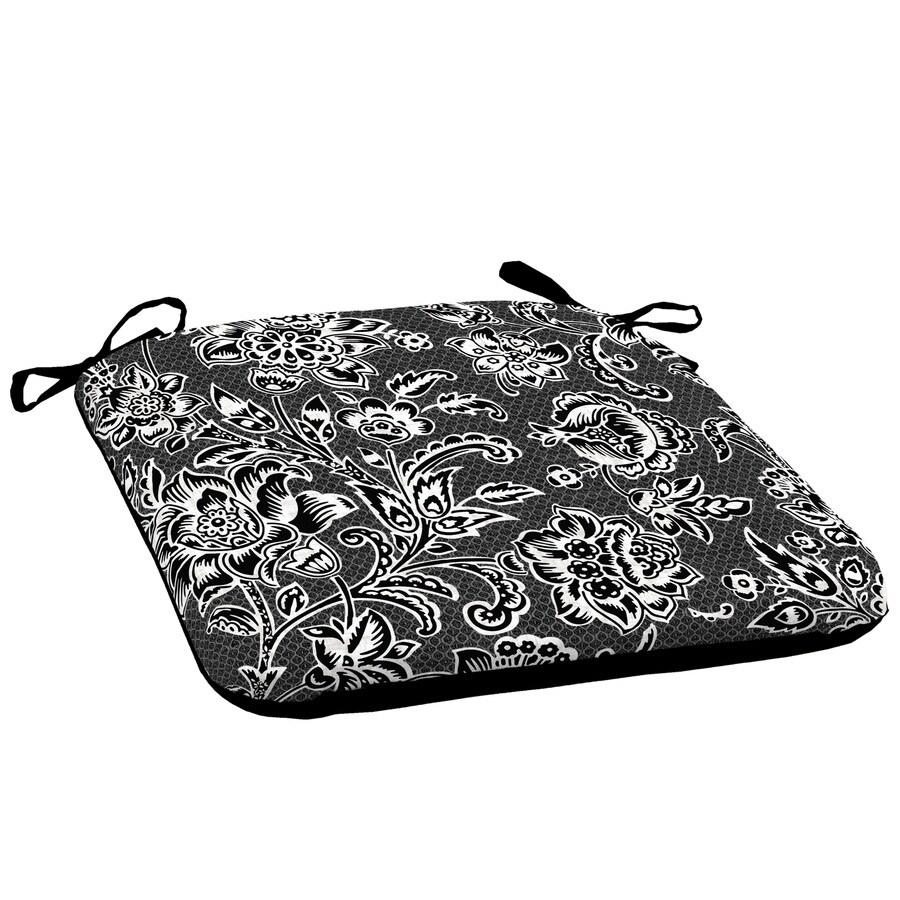 garden treasures black and white jacobean seat pad