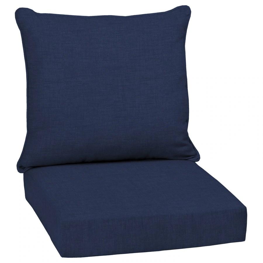arden selections 2 piece sapphire leala texture deep seat patio chair cushion lowes com