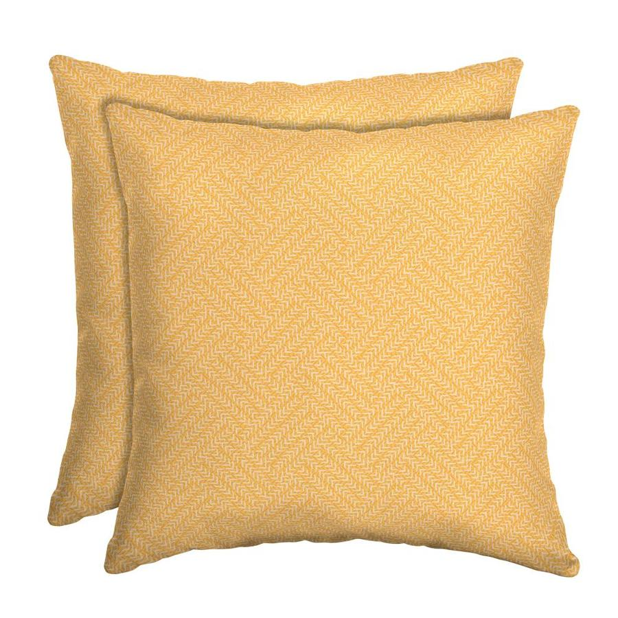 arden selections 2 pack solid sunny square throw pillow