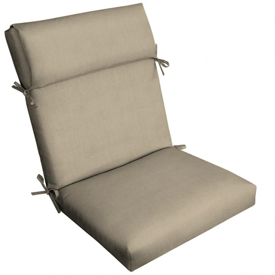 allen roth madera linen wheat high back patio chair cushion