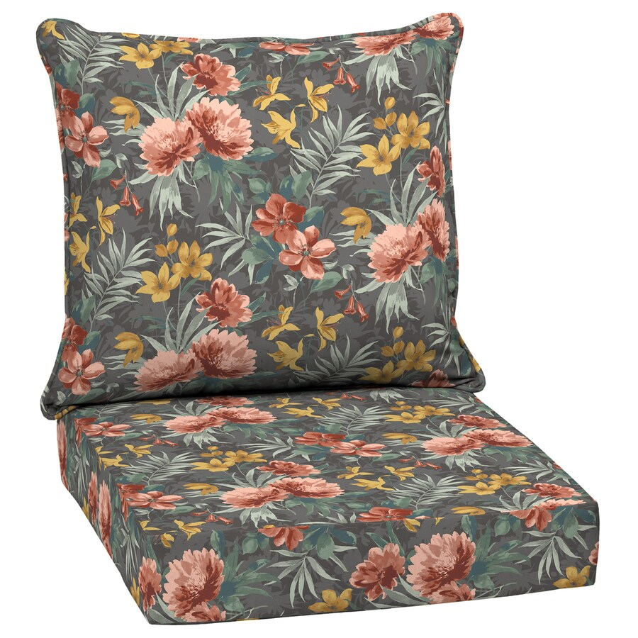 arden selections 2 piece phoebe floral deep seat patio chair cushion