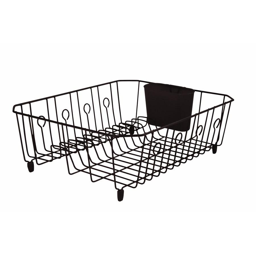 metal dish rack in the dish racks