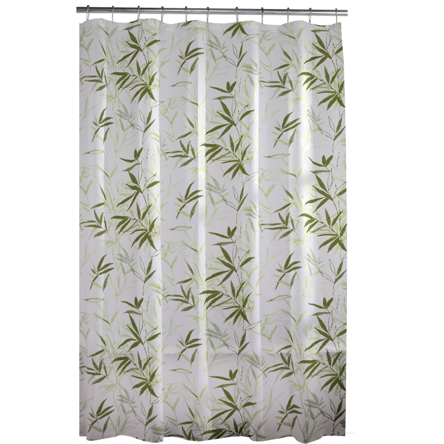 style selections 72 in eva peva floral green floral shower curtain