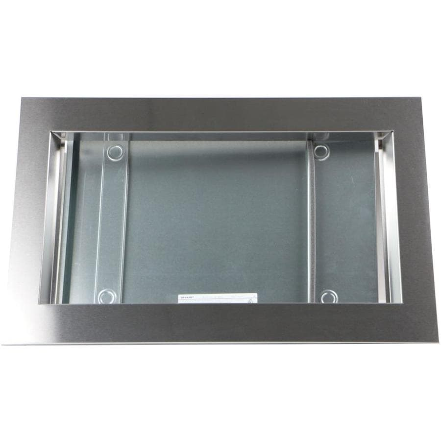 sharp built in microwave trim kit stainless steel in the microwave parts department at lowes com