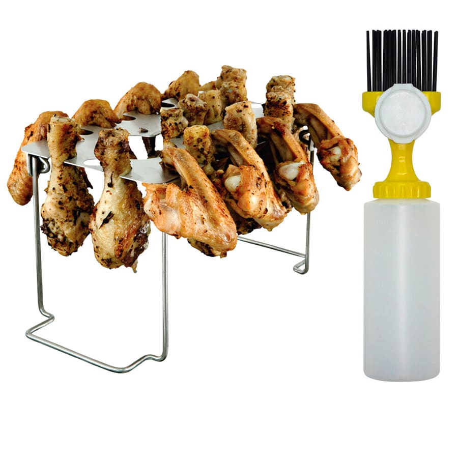 mr bar b q leg and wing rack in the