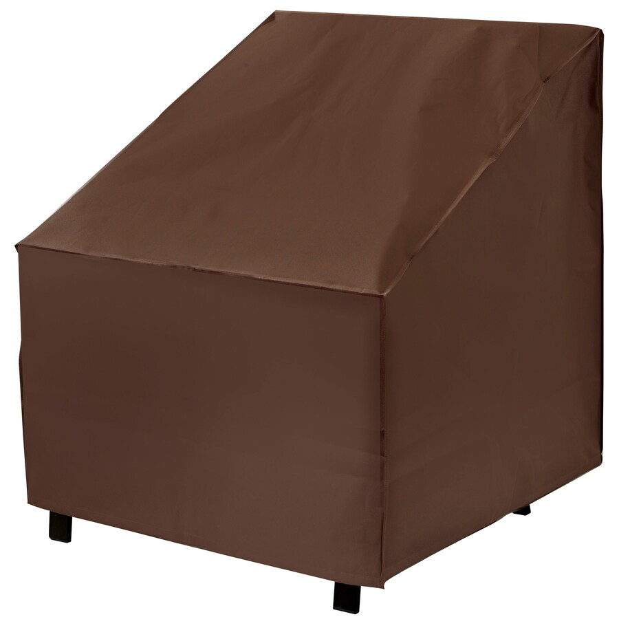 elemental dark brown premium polyester patio furniture cover