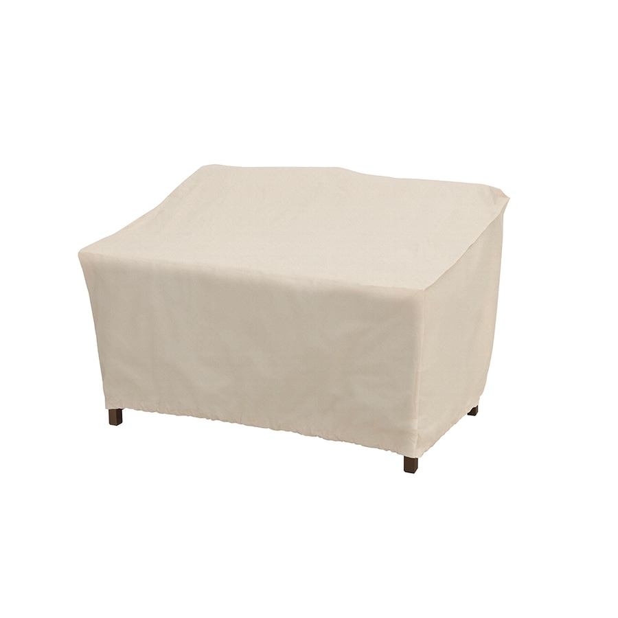 elemental tan polyester patio furniture cover