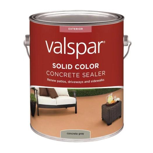 Valspar Concrete Gray Solid Stain And Sealer 128 Fl Oz