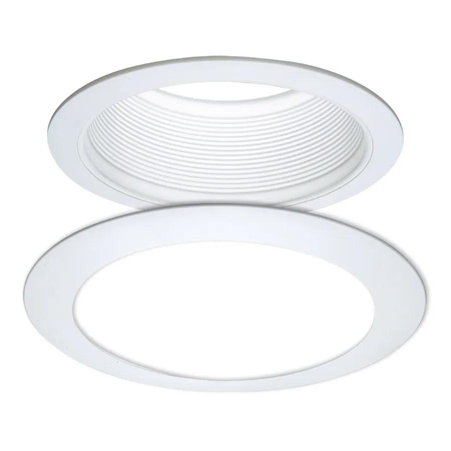 white baffle recessed light trim