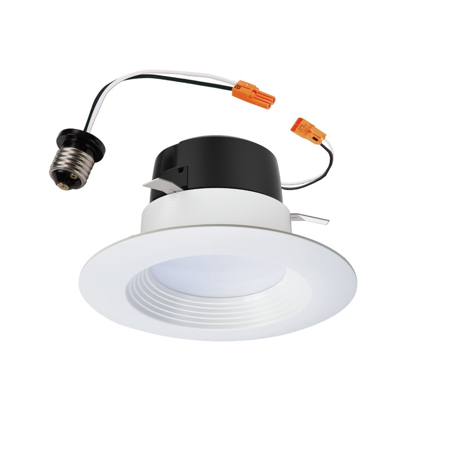 halo lt 4 in 60 watt equivalent white round dimmable recessed downlight lowes com
