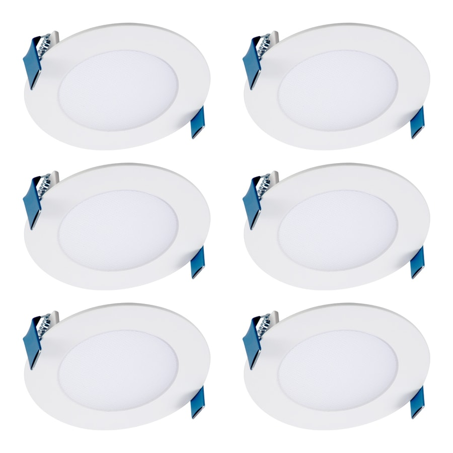 halo 6 pack 4 in remodel and new construction white airtight ic shower recessed light kit lowes com