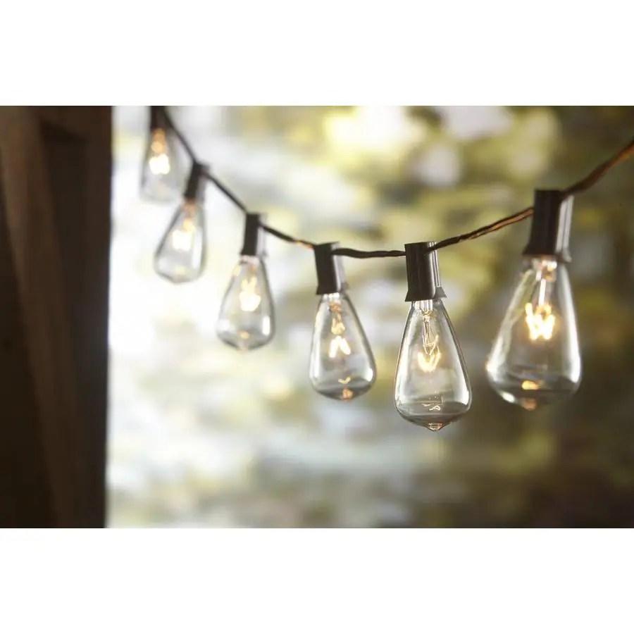 allen roth 13 ft 10 light plug in white incandescent string lights