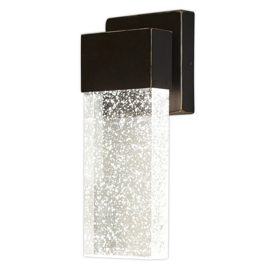 allen roth waldorf 11 25 in h bronze integrated outdoor wall light lowes com