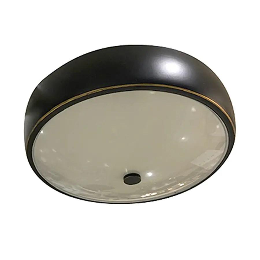 allen roth 12 5 in bronze transitional led flush mount light