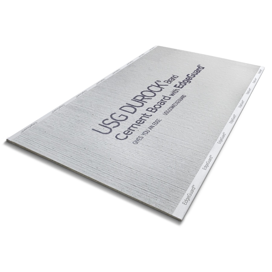 durock brand 3 ft x 5 ft x 1 4 in cement water resistant backer board lowes com