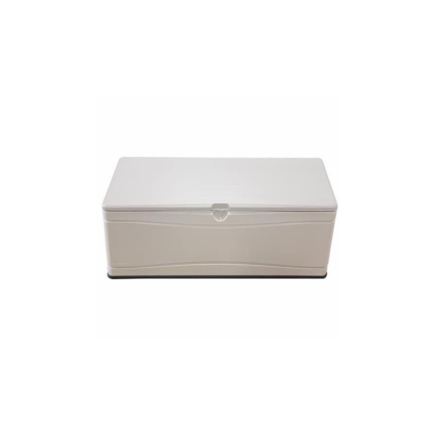 lifetime products 60 in l x 24 in 130 gallon tan deck box