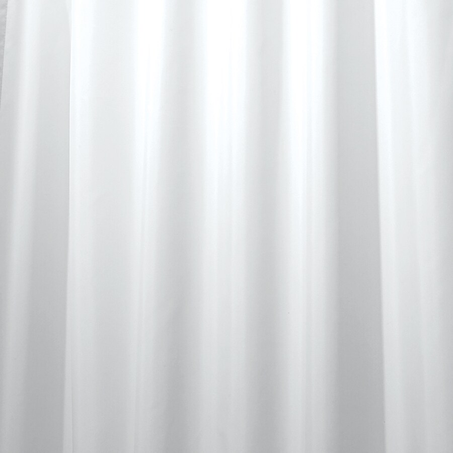 interdesign 72 in polyester white solid shower curtain