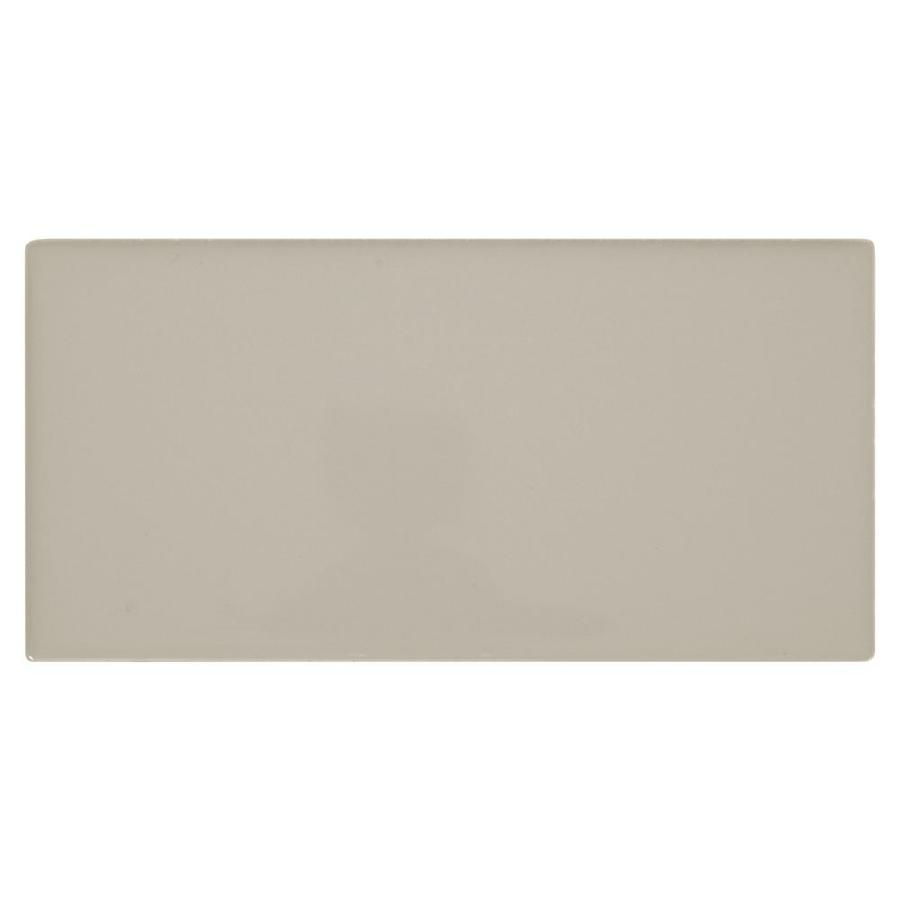 american olean starting line gloss gray 3 in x 6 in glazed ceramic subway wall tile