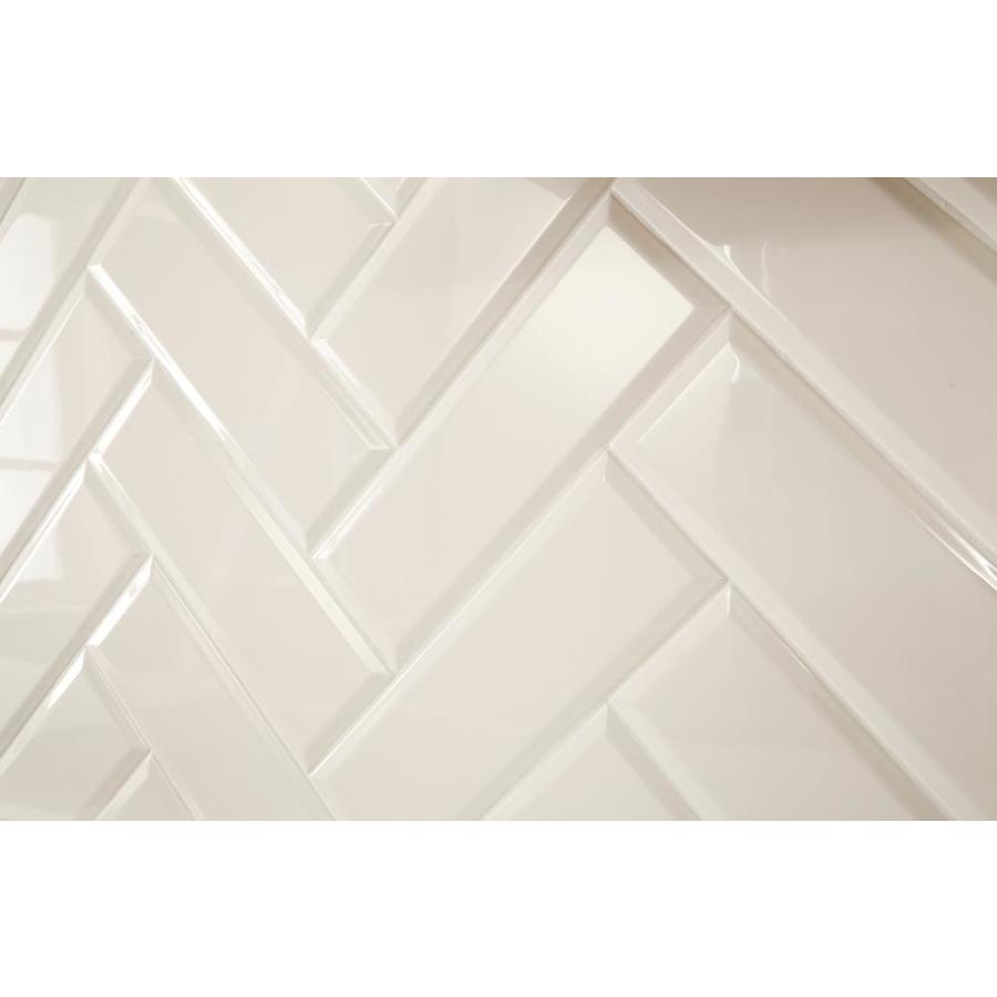 american olean starting line gloss white 4 in x 12 in glazed ceramic subway wall tile sample