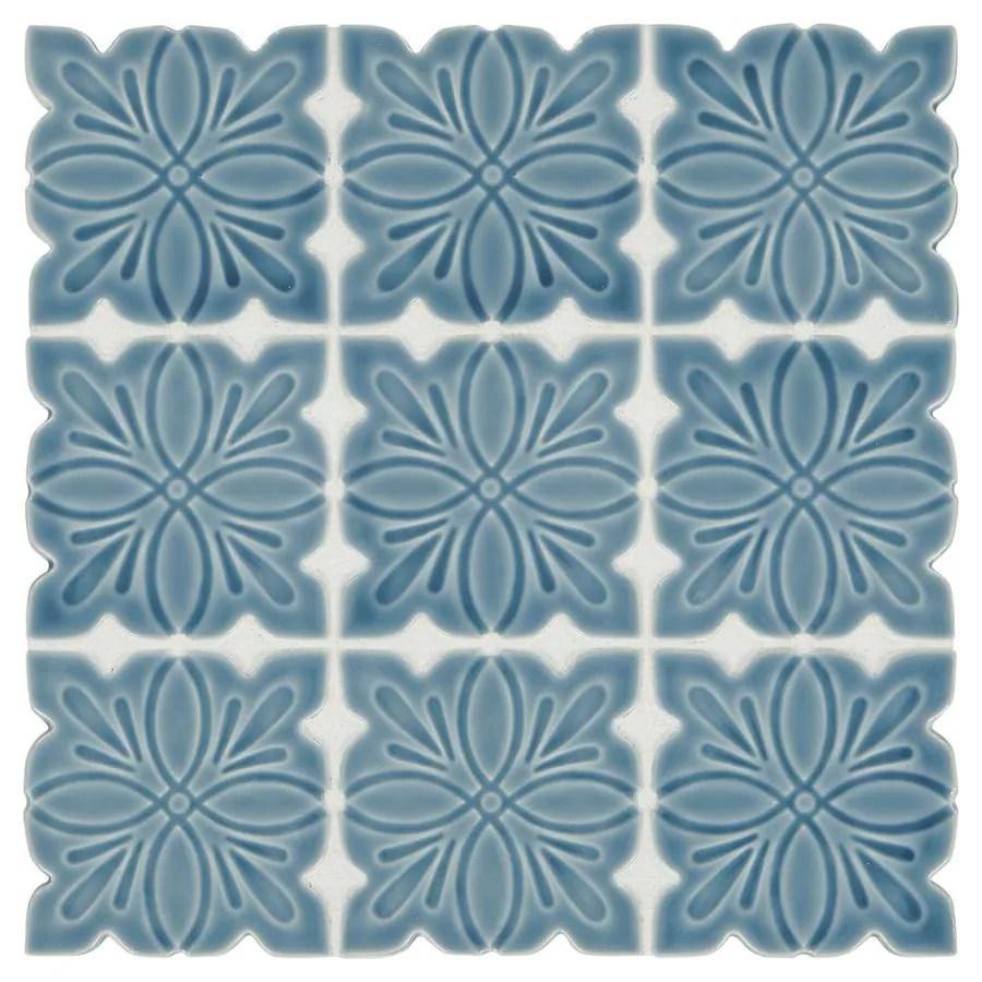american olean parisian view deep blue 12 in x 12 in glazed porcelain tile