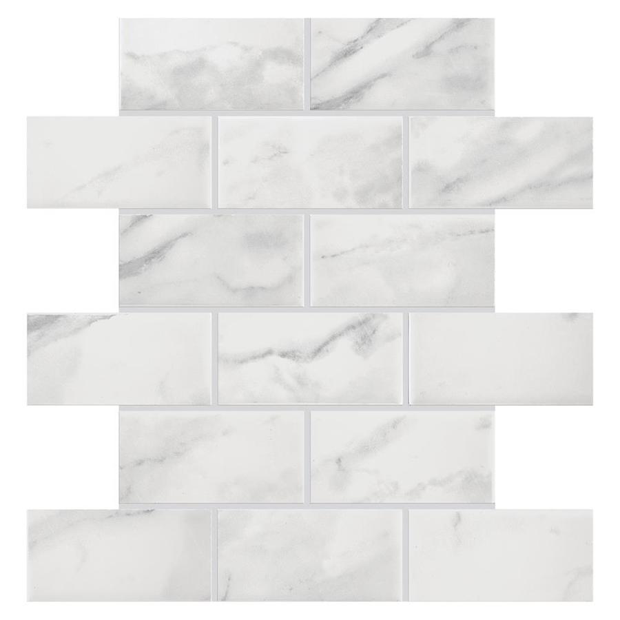 american olean mooreland carrara white 4 in x 4 in glazed ceramic brick mosaic wall tile sample