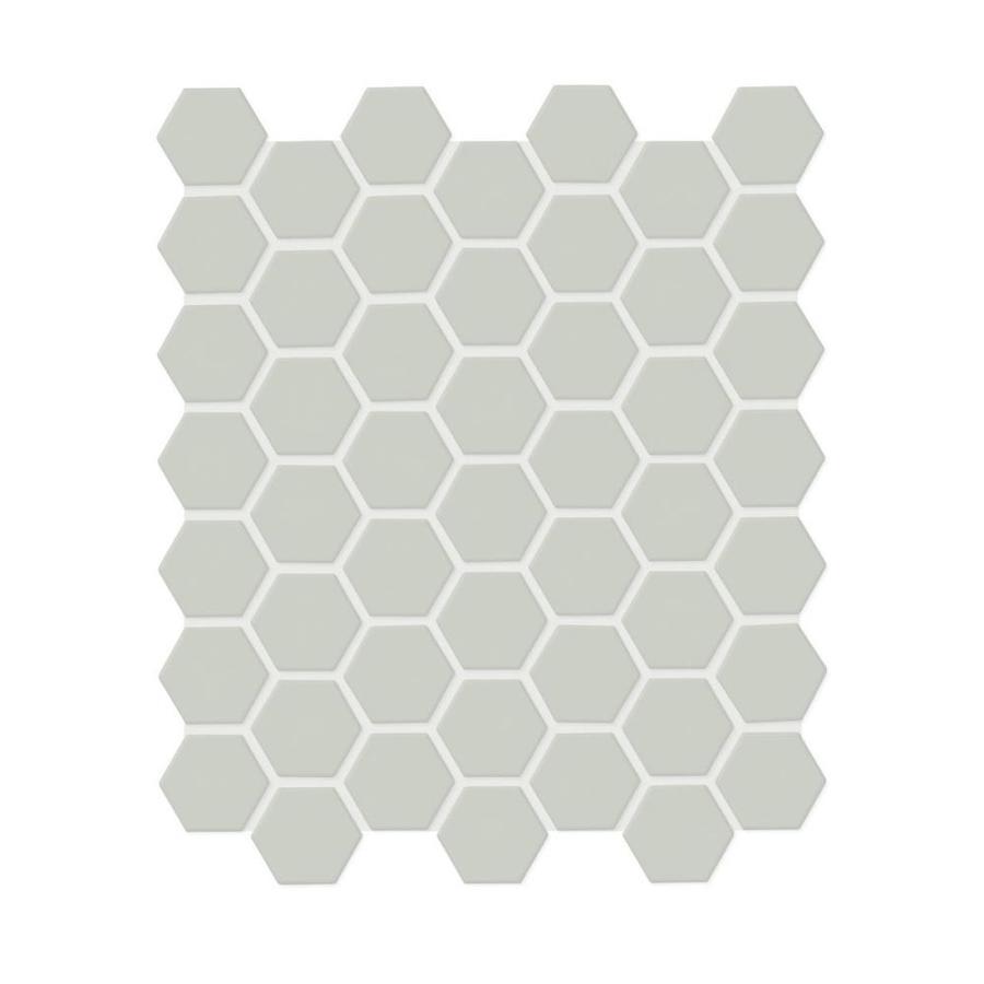 american olean starting line matte gray 10 in x 12 in matte ceramic hexagon floor tile