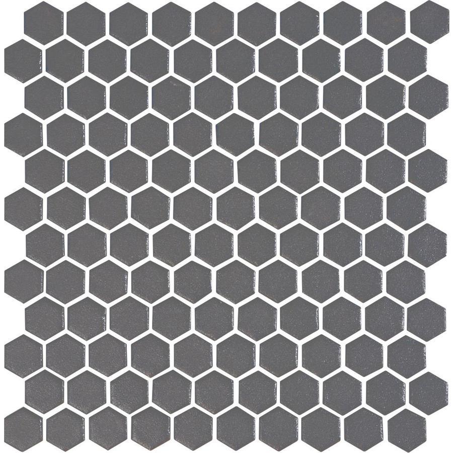 glazed ceramic honeycomb mosaic floor