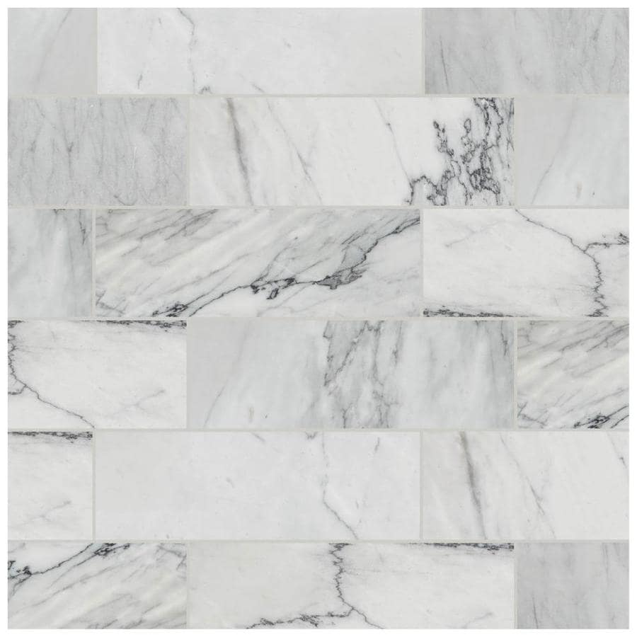 american olean genuine stone refined white 4 in x 12 in honed natural stone marble look floor and wall tile