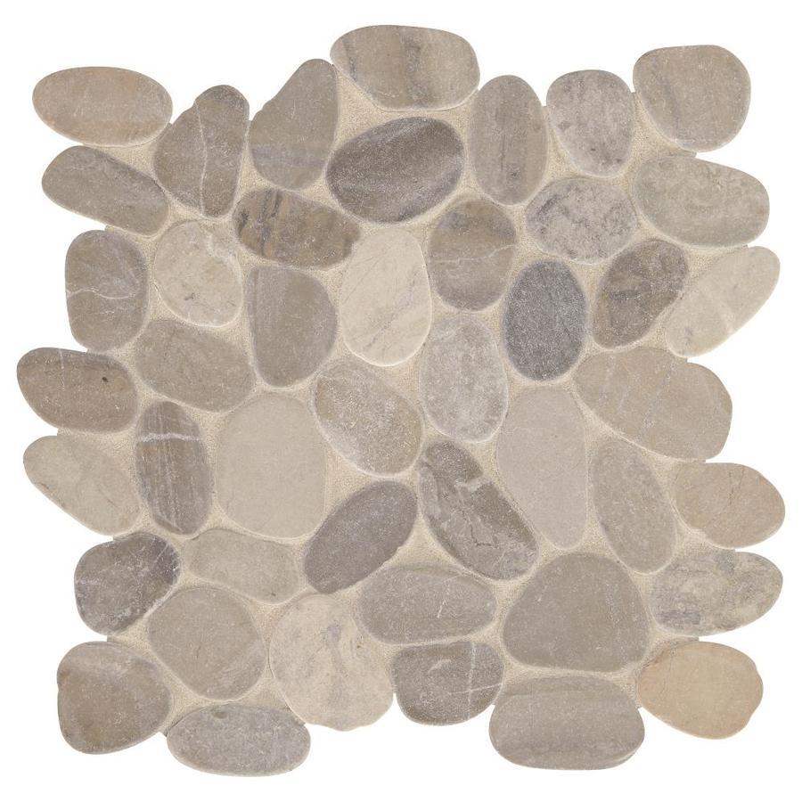 american olean delfino stone bali gray blend 12 in x 12 in unglazed natural stone pebble stone look floor tile