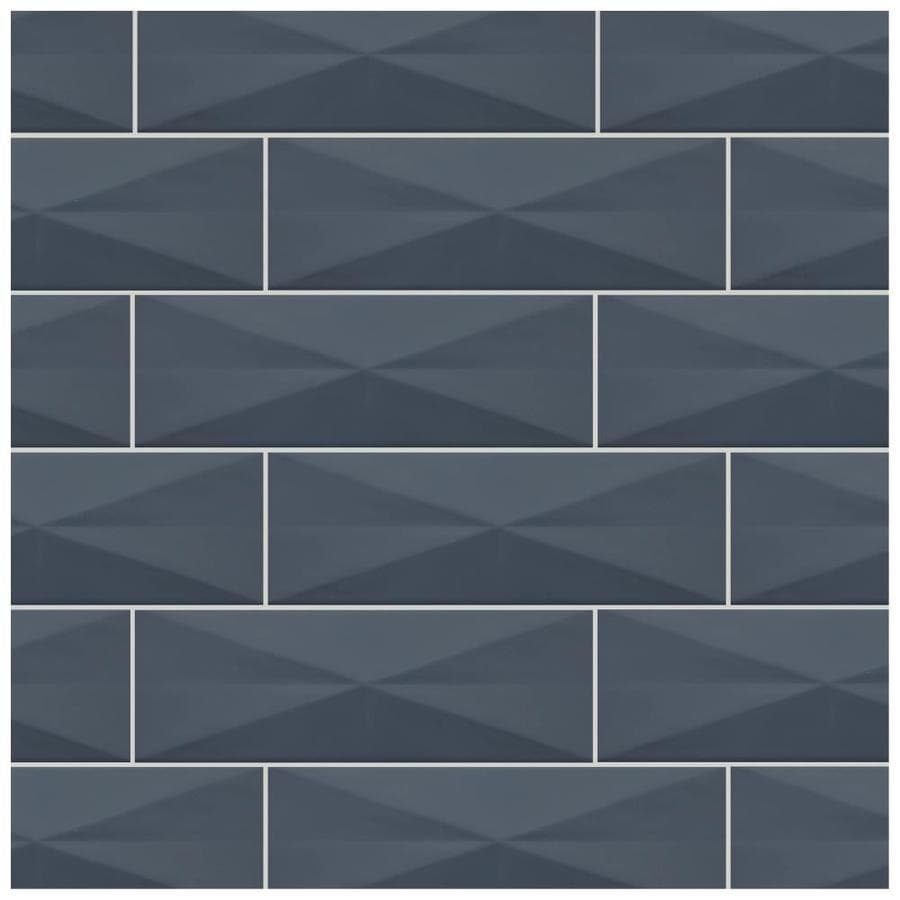 american olean vitascape midnight glossy 4 in x 12 in satin ceramic subway wall tile