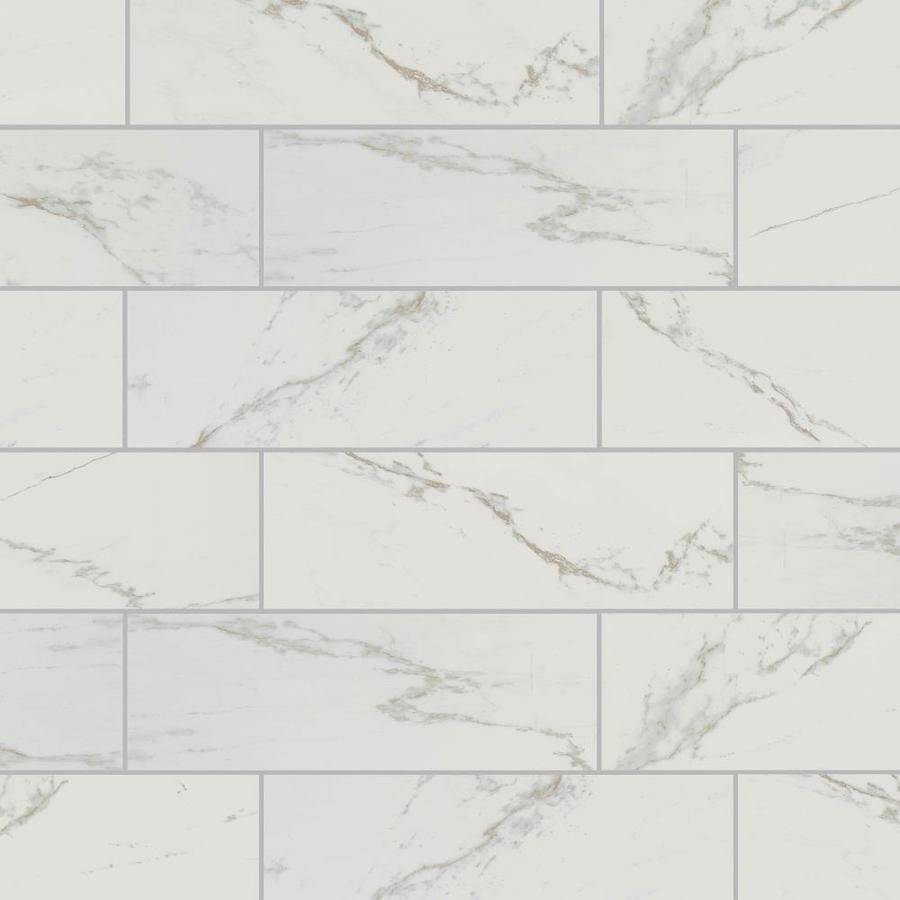 american olean marble manor calacatta 4 in x 12 in glossy ceramic marble subway wall tile
